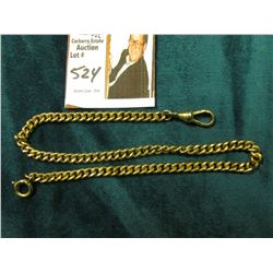 "13.25"" Antique heavy link Watch Chain. Appears to be Gold-filled."