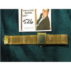 Mesh Watch Strap, fob style. Gold-colored, but probably not Gold-filled.