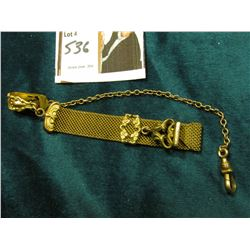 Wire Mesh Fob with gold-filled Watch Chain.