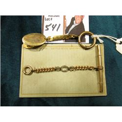 (2) Small Gold-filled Watch Chains with clasps.