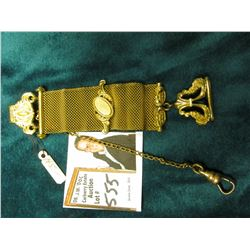 Wire Mesh Fob with gold-filled attachments and latch.