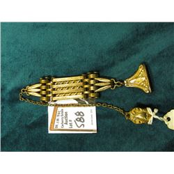 Hinged Chain Gold-filled Men's Heavy Watch Fob with vest attachment.