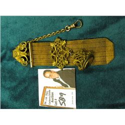 Antique Wire mesh Watch fob with gold-filled attachments.
