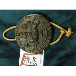 """The British Museum Replica of a Seal Impression Seal of Simon De Montfort"", Replica made of resin c"