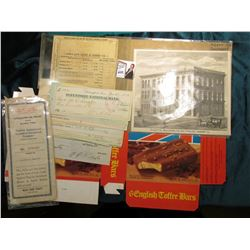 "Mint condition, unfolded ""English Toffee Bars"" Box; ""Young Men's Christian Association Gazette Build"