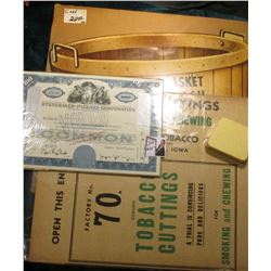 "Unfolded Box ""Cigar Cuttings for Smoking and Chewing Manufactured by Davenport Tobacco Co….Davenport"