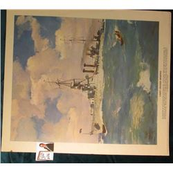 "Copyright 1938 Kellogg Company, Battle Creek, Michigan Poster of ""Light Cruiser Memphis"", 14"" x 16""."