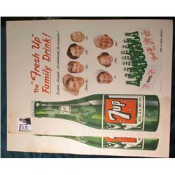 "(2) Copyright 1950 The Seven Up Company Advertising Posters. Each approximately 13"" x 18""."
