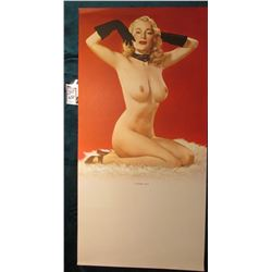 "11"" x 22"" Poster ""A Modern Venus"" (possibly Marilyn Monroe) Posing profile with bare breast ""Litho i"