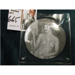 French Type Nude Lady Mirror. 55mm. Naughty but nice.