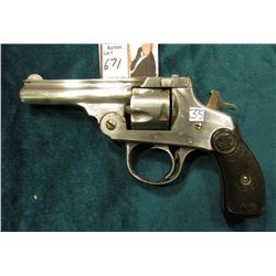 Iver Johnson Arms & Cycle Works 1886 Revolver. 5 Round capacity. Fitchburg, Mass., U.S.A. Non-workin