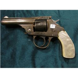 Iver Johnson Arms & Cycle Works 1886 Revolver. 5 Round capacity. Fitchburg, Mass., U.S.A. Pearl hand