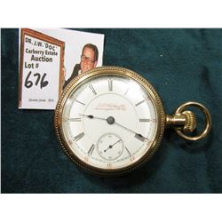 G.E. Phillips & Co. 55mm Pocket Watch. Case no. 240377 Gold-filled. Movement no. 33343. Multi-jewele