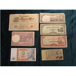 Series 1987 Banco Central De Reserva Del Peru, CU; 1971 Bank of Italy One Mille Banknote, VG; 1910 G