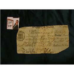 October 9, 1812 Bank of London Promissory Note. An interesting piece of history dated during the War