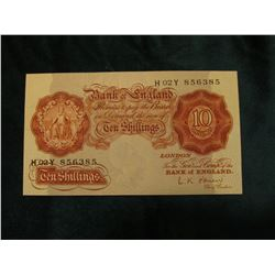 (1955-60) Pick no. 368C Bank of England Ten Shilling Note, Near Crisp Unc.