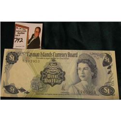 """Cayman islands Currency Board"" One Dollar, CU. depicts Queen Elizabeth."