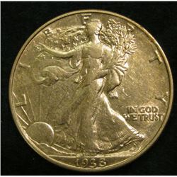 1938 P Walking Liberty Half Dollar. EF.