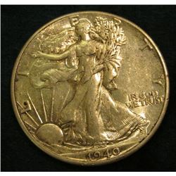 1940 P Walking Liberty Half Dollar. EF-AU.