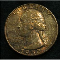 1938 D Washington Quarter. Toned Uncirculated.