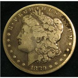 1880 S Morgan Silver Dollar. VG.