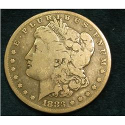 1883 S Morgan Silver Dollar. VG.