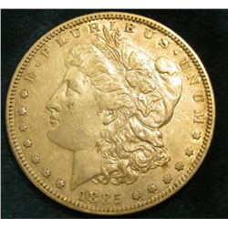 1885 S Morgan Silver Dollar. EF.