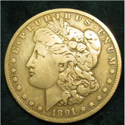 1891 O Morgan Silver Dollar. Fine.
