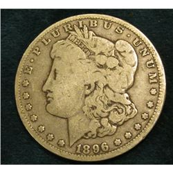 1896 O Morgan Silver Dollar. Fine.