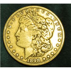 1898 S Morgan Silver Dollar. VG.