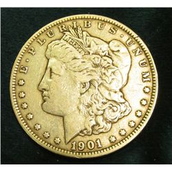 1901 P Morgan Silver Dollar. Fine.