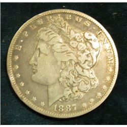 1887 O Morgan Silver Dollar. Fine.