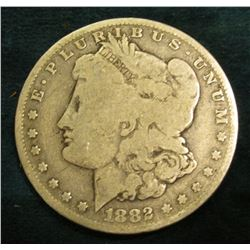 1882 O Morgan Silver Dollar. VG.