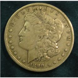 1890 O Morgan Silver Dollar. VF.