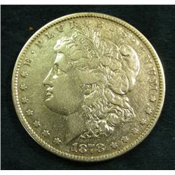 1878 P Morgan Silver Dollar. Fine.