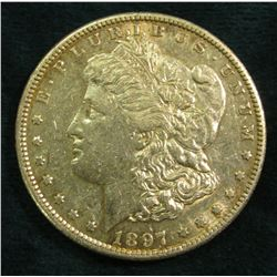 1897 S Morgan Silver Dollar. EF.