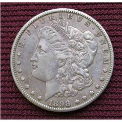 1898 S Morgan Silver Dollar. VF.