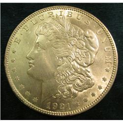 1921 P Morgan Silver Dollar. Brilliant Uncirculated.