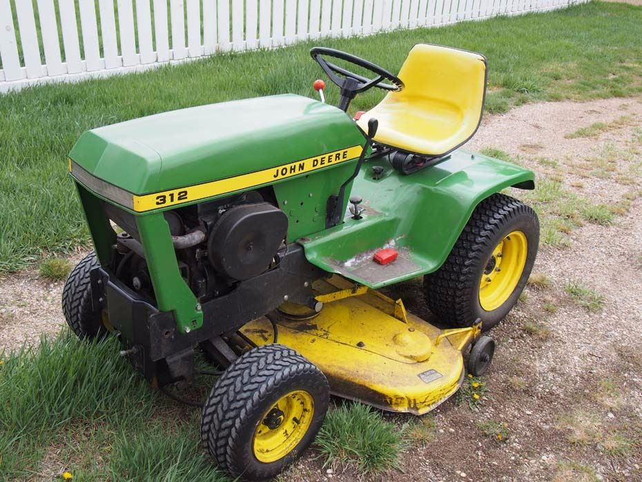 ... Image 2 : John Deere 312 Garden Tractor And Attachments (Mower And  Tiller) ...
