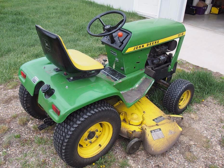... Image 4 : John Deere 312 Garden Tractor And Attachments (Mower And  Tiller) ...