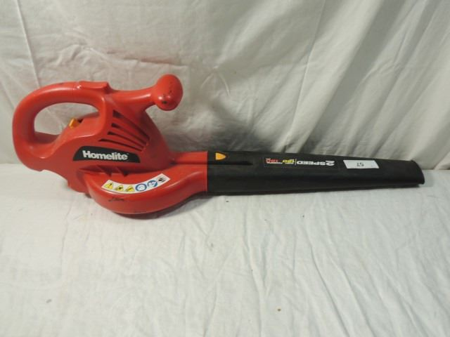 Homelite Electric Blower : Homelite speed electric yard blower mph