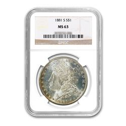 1881-S $1 Morgan Silver Dollar NGC MS63