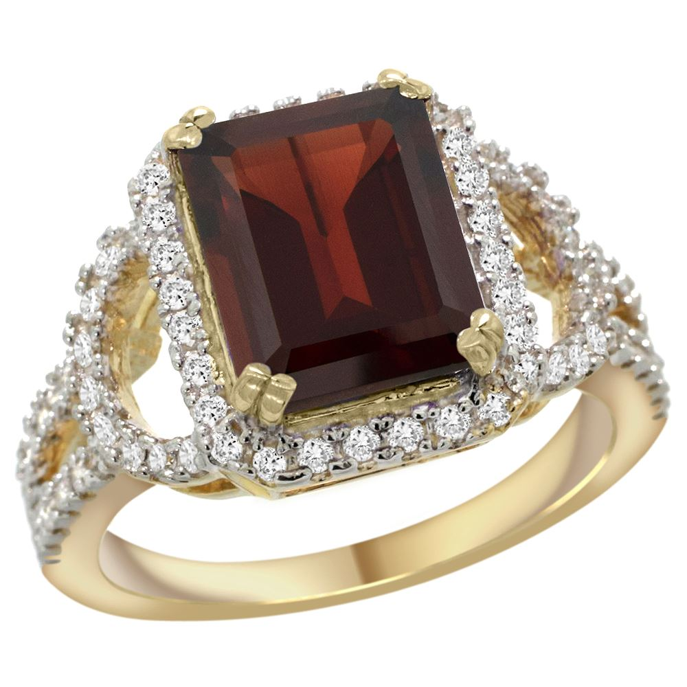 3 08 ctw garnet engagement ring 14k