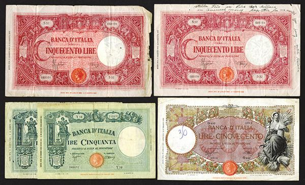 Banca Oriental Group:Banca d'Italia, 1941-1943 Banknote Issues – Archives International