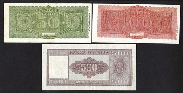 Banca Oriental Group:Banca d'Italia 1944, 1947 Issues – Archives International Auctions