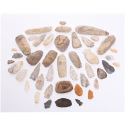 Large Native American artifact collection comprising of