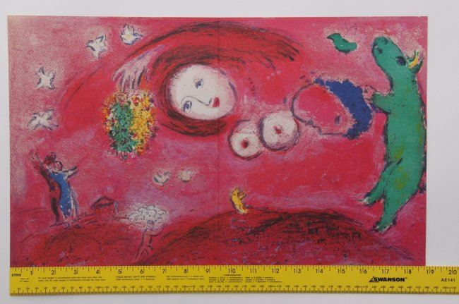 Marc chagall double page from derriere le miroir ca for Chagall derriere le miroir