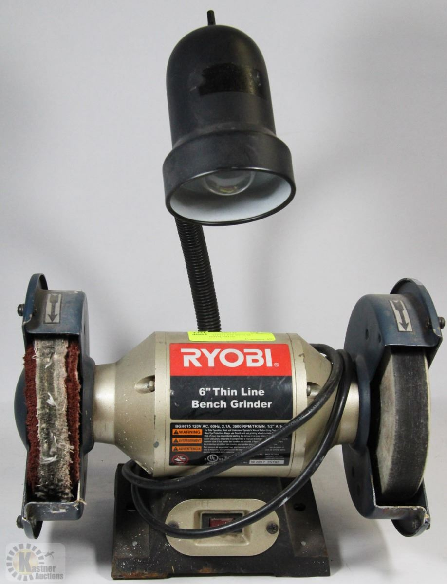 Ryobi 6 Quot Thin Line Bench Grinder Polisher