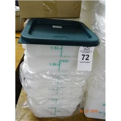 2 Qt. Lidded Portion Bins - 12 Times the Money