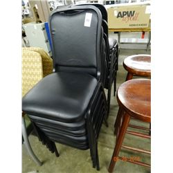Black Stack Chairs - 12 Times the Money